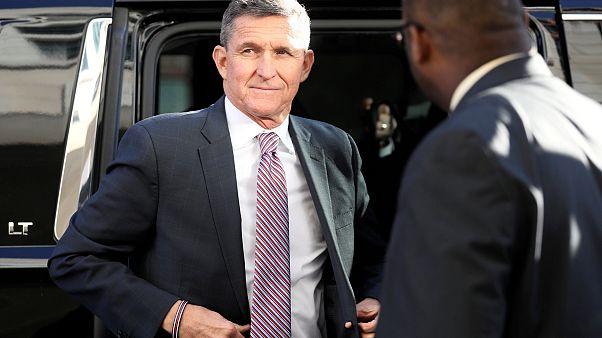 Image: Former national security adviser Flynn arrives for sentencing hearin