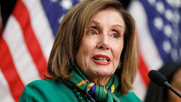 Image: House Speaker Nancy Pelosi speaks during a news conference at the U.