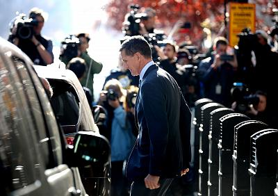 Michael Flynn leaves federal court after he pleaded guilty to lying to the FBI in Washington on Dec. 1. Flynn became the first Trump White House official to face criminal charges and admit guilt so far in the wide-ranging election investigation led by special counsel Robert Mueller.
