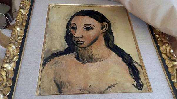 Image: The seized painting, Head of a Young Woman, by Pablo Picasso.