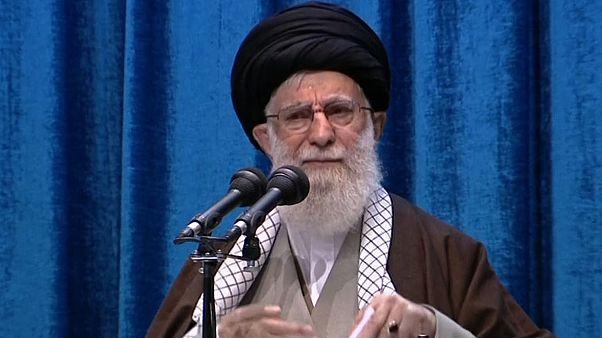Image: Iran's supreme leader Ayatollah Ali Khamenei leading the main weekly