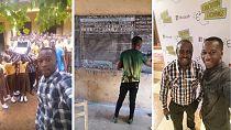 Ghanaian blackboard computer teacher gets Microsoft and local support
