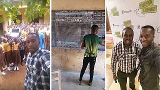 Ghanaian blackboard computer teacher gets Microsoft and local support