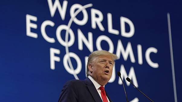 Image: President Donald Trump delivers the opening remarks at the World Eco