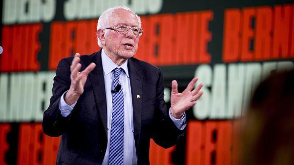 Image: Democratic presidential candidate Sen. Bernie Sanders, I-Vt., speaks
