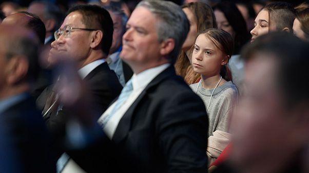 Image: Swedish climate activist Greta Thunberg listens to the speech of U.S