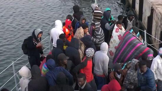 Des migrants secourus en Méditerranée [no comment]