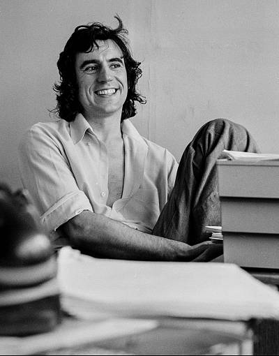 """Actor and writer Terry Jones at a script conference for """"Monty Python\'s Flying Circus"""" in 1974."""