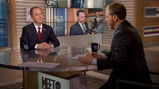 "Image: Rep. Adam Schiff appears on ""Meet the Press"" on Jan. 26, 2020."
