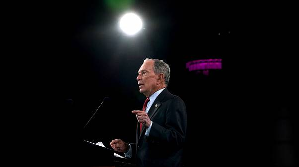 Image: Democratic presidential candidate Michael Bloomberg speaks at an eve