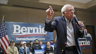 Democratic presidential candidate Sen. Bernie Sanders speaks at a campaign