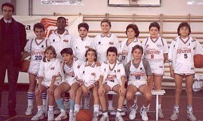 "Kobe Bryant\'s ""Cantine Riunite"" youth team in the early 1990s in Reggio Emilia, Italy."