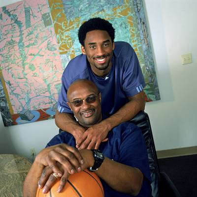 "Kobe Bryant with his father, former NBA player Joe ""Jellybean"" Bryant, after buying an interest in Olimpia Milano, the  team his father once played for, in November 2000 in Los Angeles."