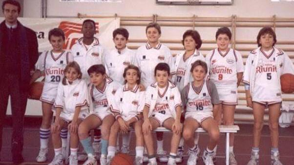 Image: Kobe Bryant's 'Cantine Riunite' youth team in the early 1990's in Re
