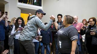 Image: Beto O'Rourke campaigns with Texas State Representative candidate Dr