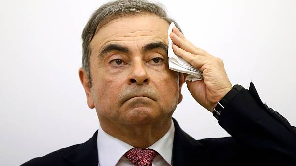 Image: Former Nissan chairman Carlos Ghosn attends a news conference at the