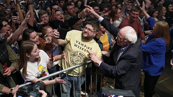 Sanders moves on to NH after strong Iowa results