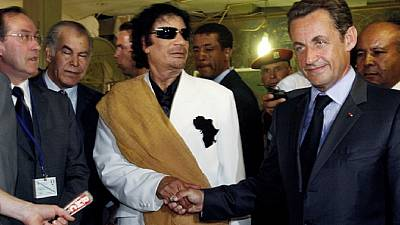Sarkozy attacks 'mud-slinging' Gaddafi claims