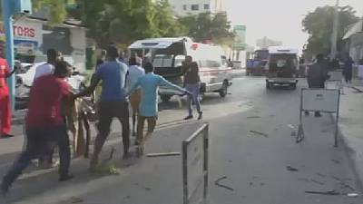 14 killed in explosion outside busy hotel in Mogadishu