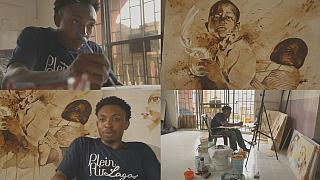 Meet the Nigerian artist Ekene Ngige,using coffee to produce stunning artworks