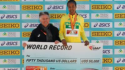 Ethiopia's Gudeta breaks women's half marathon record in Spain
