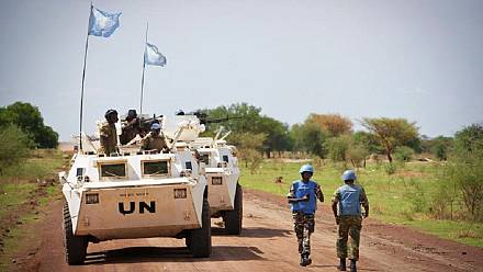 UN troops patrol the volatile Kajo-Keji region in South Sudan [no comment]