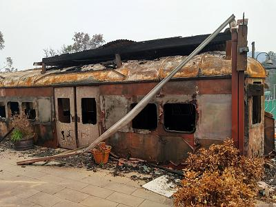 A wildfire claimed the Train Cafe and hundreds of other homes, shops and farms in and around Cobargo, a rural village in southeast New South Wales.