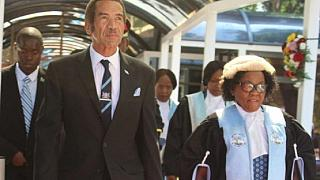 Botswana President addresses rally in hometown before leaving office