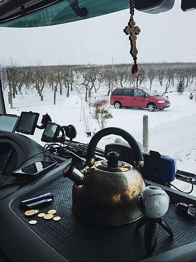 La cabina será la casa de Ruslan durante los próximos meses.