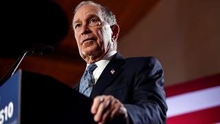 Image: Democratic presidential candidate Michael Bloomberg attends a campai
