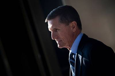 Gen. Michael Flynn, former national security adviser to President Donald Trump, leaves Federal Court in Washington on Dec. 1, 2017.