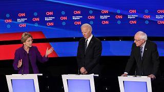 Image: Democratic Presidential Candidates Participate In Presidential Prima