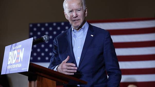 Image: Democratic Presidential Candidate Joe Biden Campaigns In Las Vegas A