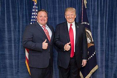 Robert F. Hyde with President Donald Trump.