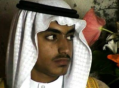 Hamza Bin Laden in a video released by the CIA in 2017.