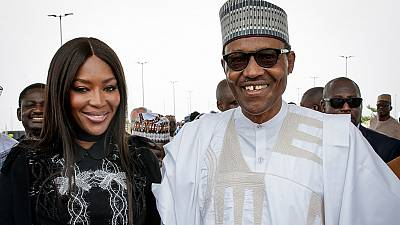 [Photos] Nigeria : Buhari et Naomi Campbell mutuellement importants ?