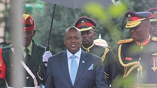[Photos] Colour and style: Botswana braves rains to swear in President Masisi