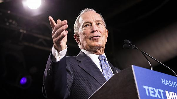 Image: Democratic presidential candidate Mike Bloomberg during a campaign r