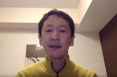 Professor Kentaro Iwata, an infection control specialist at Kobe University Hospital, describes the conditions on board the Diamond Princess, in Kobe, Japan Feb. 18, 2020.