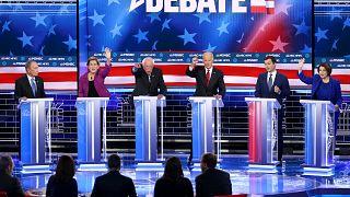 Image: Democratic Presidential Candidates Debate In Las Vegas Ahead Of Neva
