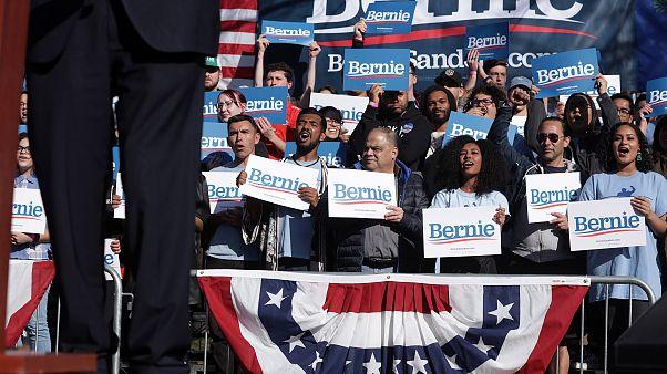 Image: Bernie Sanders Campaigns In Las Vegas In Week Leading Up To Caucus