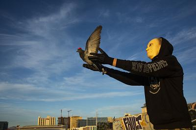 A  group calling itself P.U.T.I.N., Pigeons United To Interfere Now, is claiming responsibility for the MAGA-hat-wearing pigeons in Las Vegas.