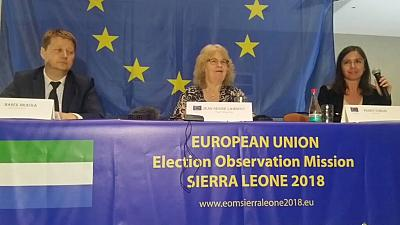 Sierra Leone polls: EU observers criticise parties, state institutions for sabotaging NEC's reputation