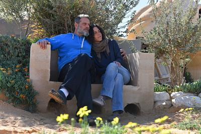Tom Alkalay and his wife, Roni, said they had moved to their desert village in the Pitchat Nitzana region of the Negev to escape the endless news cycles and stresses of urban life.