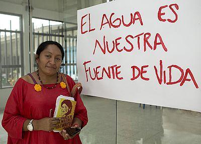 Jakeline Romero, an indigenous rights activist.