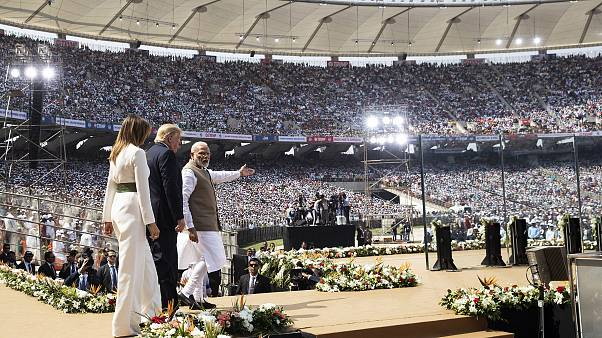US President arrives to address over 1 lakh citizens