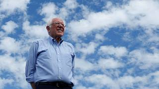 Image: Bernie Sanders at a Get Out the Early Vote campaign rally in Santa A
