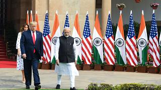 Image: IPrime Minister Narendra Modi, President Donald Trump and First Lady