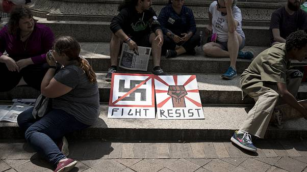 "Alt Right Holds ""Unite The Right"" Rally In Washington, Drawing Counterprote"
