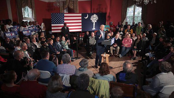 Image: Democratic presidential candidate former Vice President Joe Biden sp